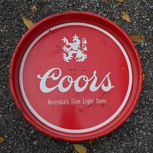 """VTG COORS Metal 13"""" Beer Tray"""